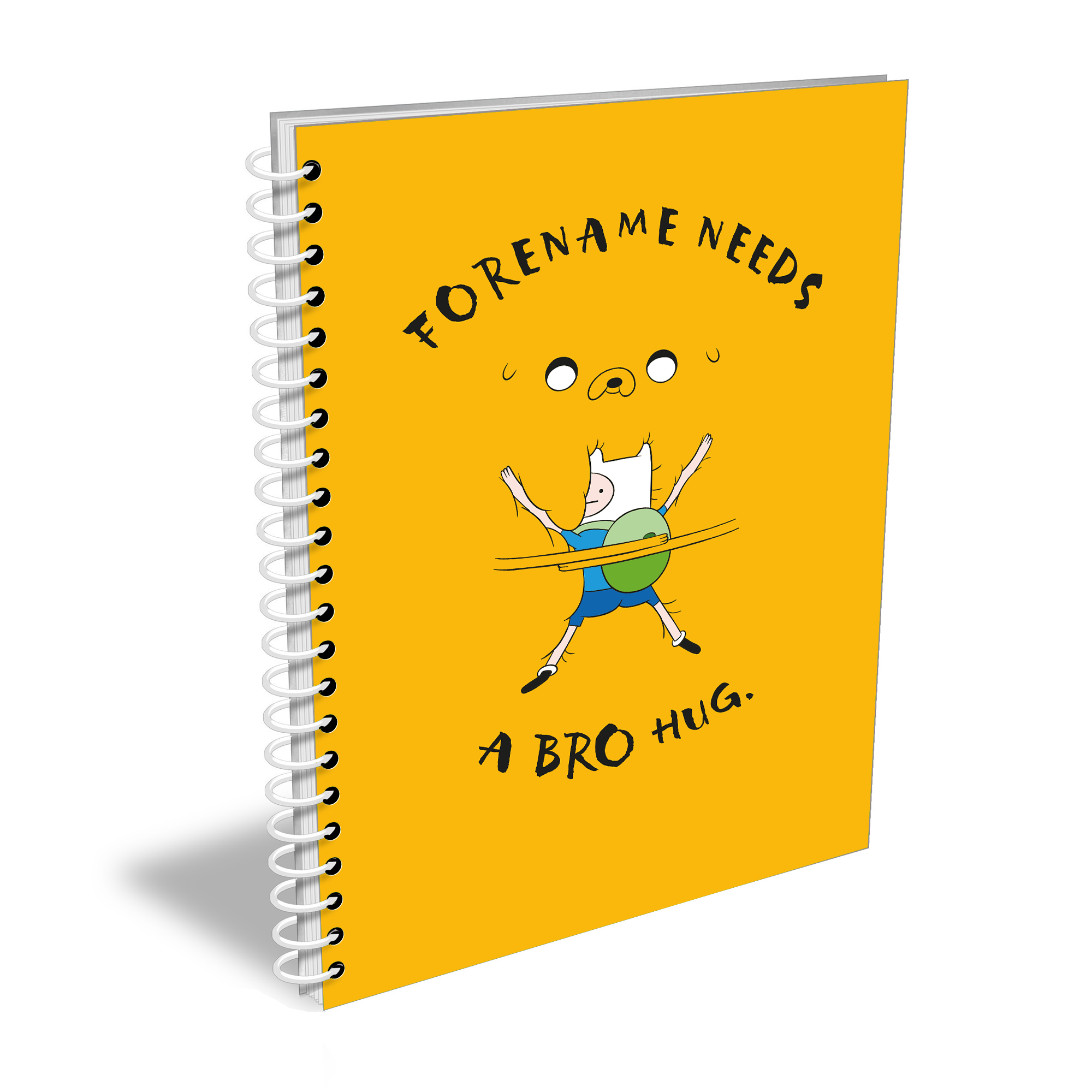 Adventure Time Bro Hug Notebook A4