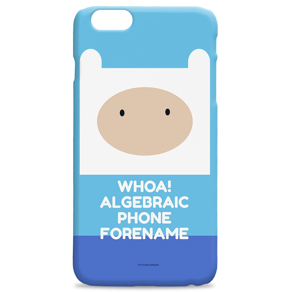Adventure Time Finn Flat Quote iPhone Case