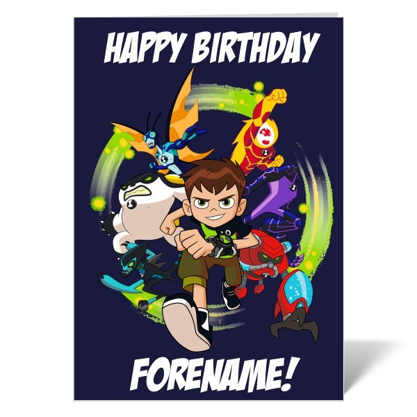 Ben 10 Group Birthday Card