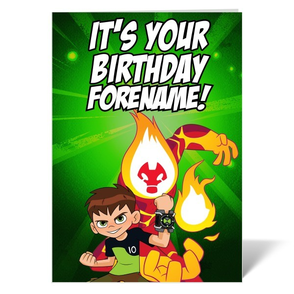 Ben 10 Heatblast Its Your Birthday Card