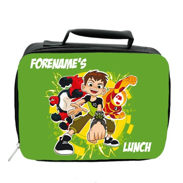 Ben 10 Names Insulated Lunch Bag - Black