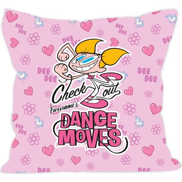 Dexter's Lab Dance Moves Cushion
