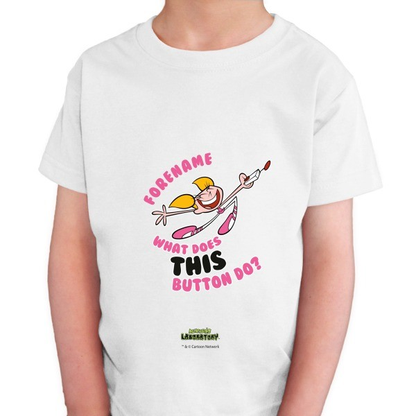 Dexter's Lab What Button Kids T-shirt