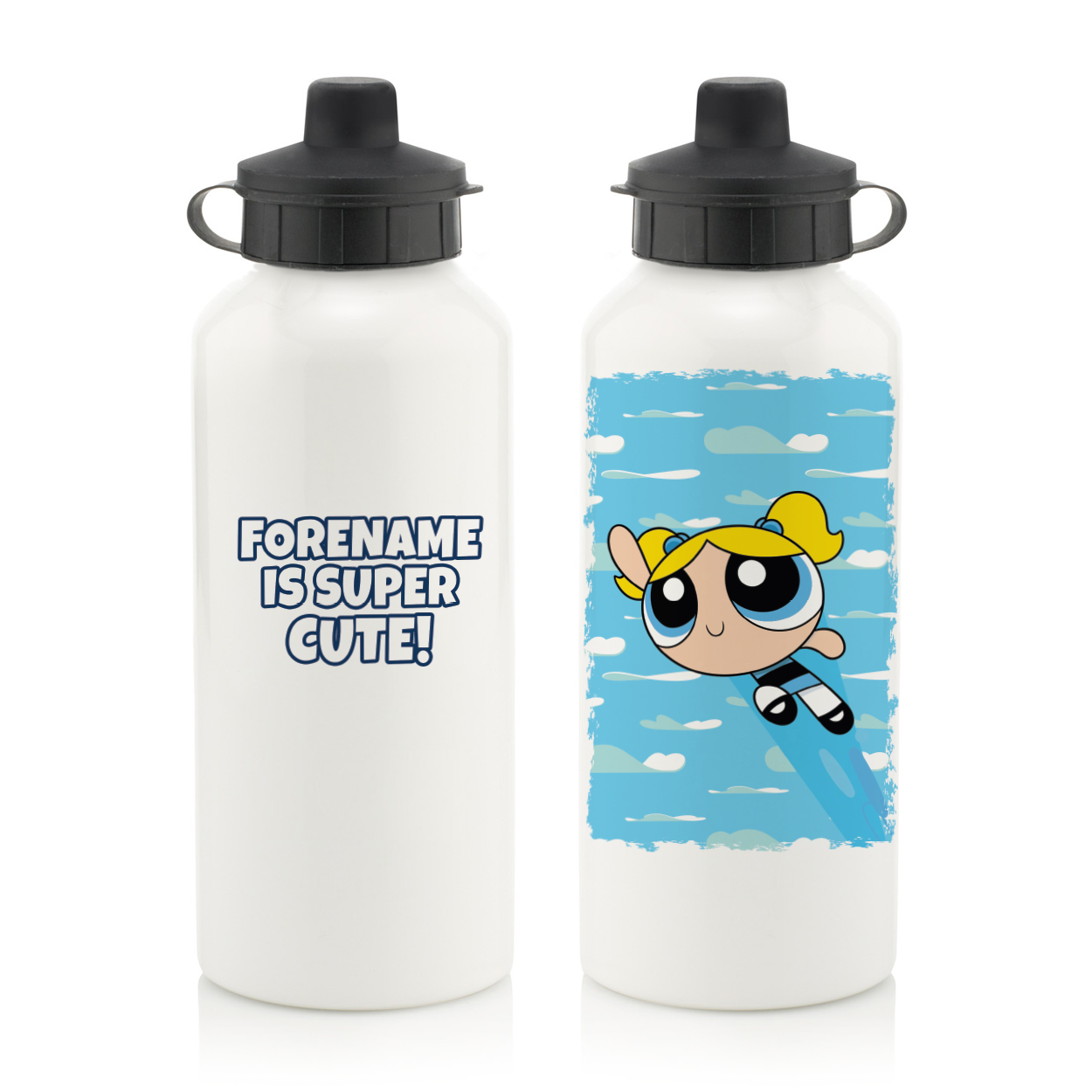 Powerpuff Girls Bubbles Cloud Water Bottle