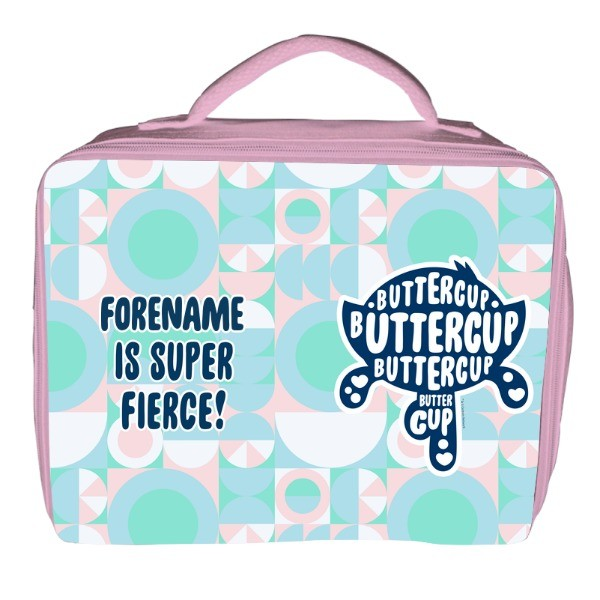 Powerpuff Girls Buttercup Silhouette Insulated Lunch Bag - Pink