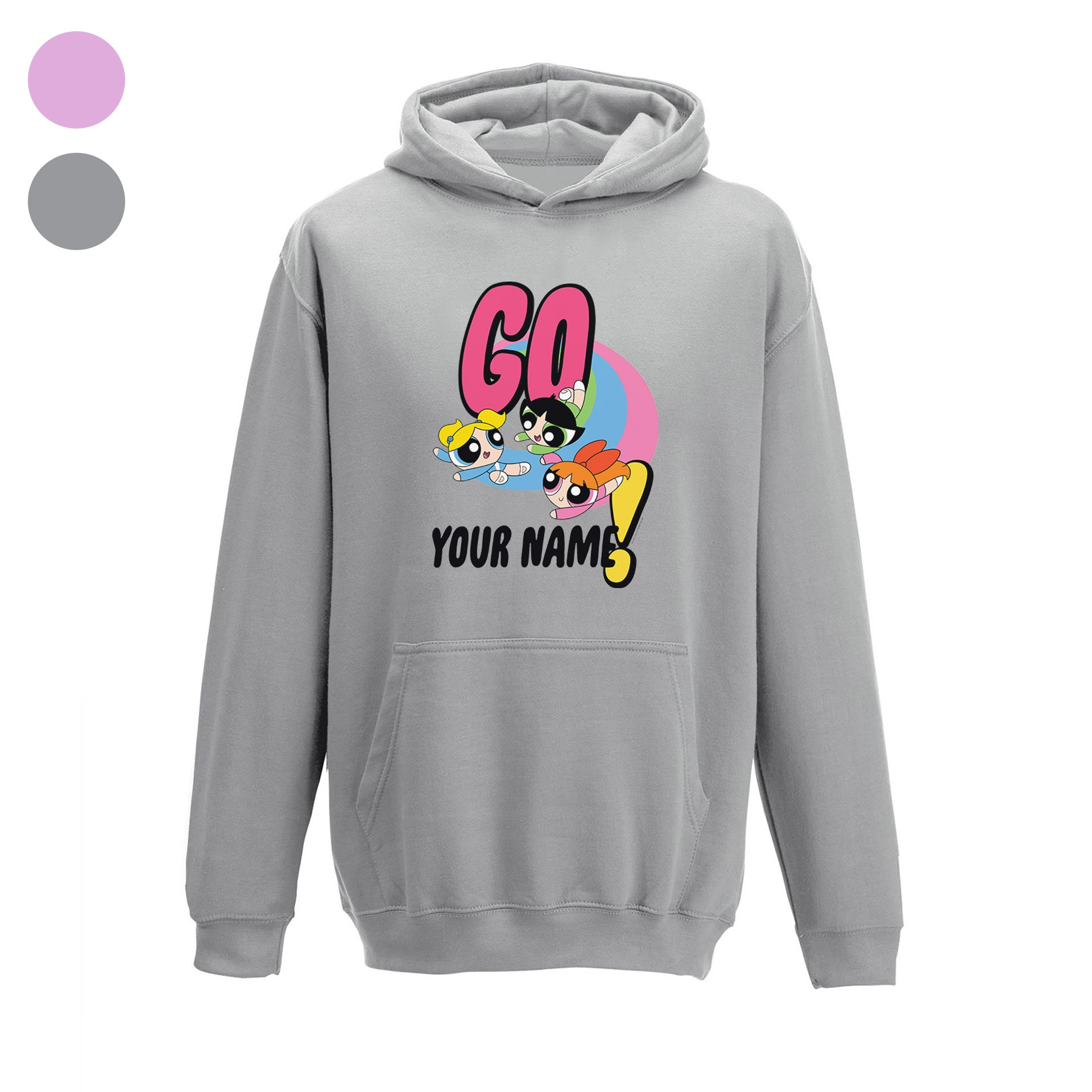 Powerpuff Girls Go Name Kids Hoodie