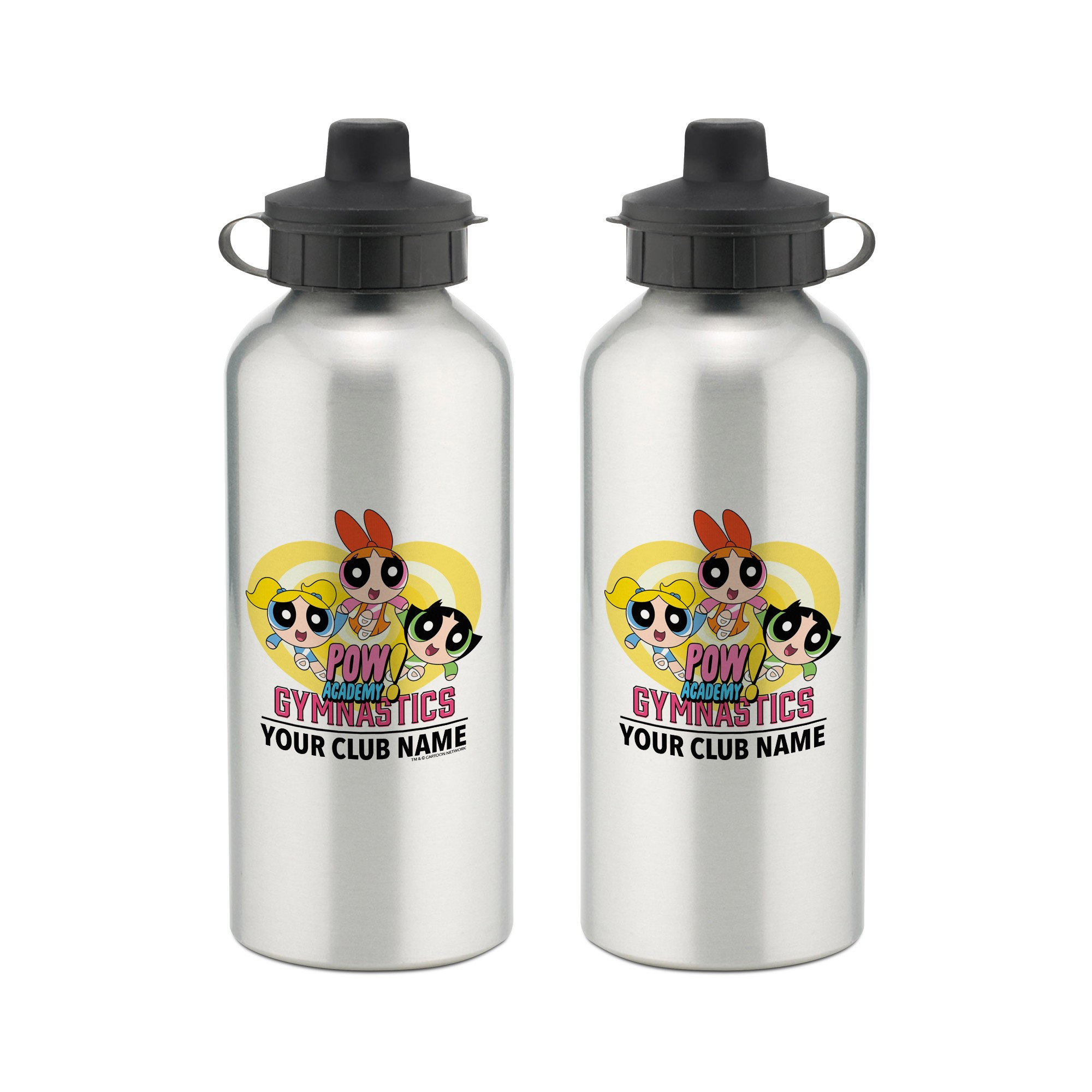 Powerpuff Girls Gymnastics Club Aluminium Water Bottle