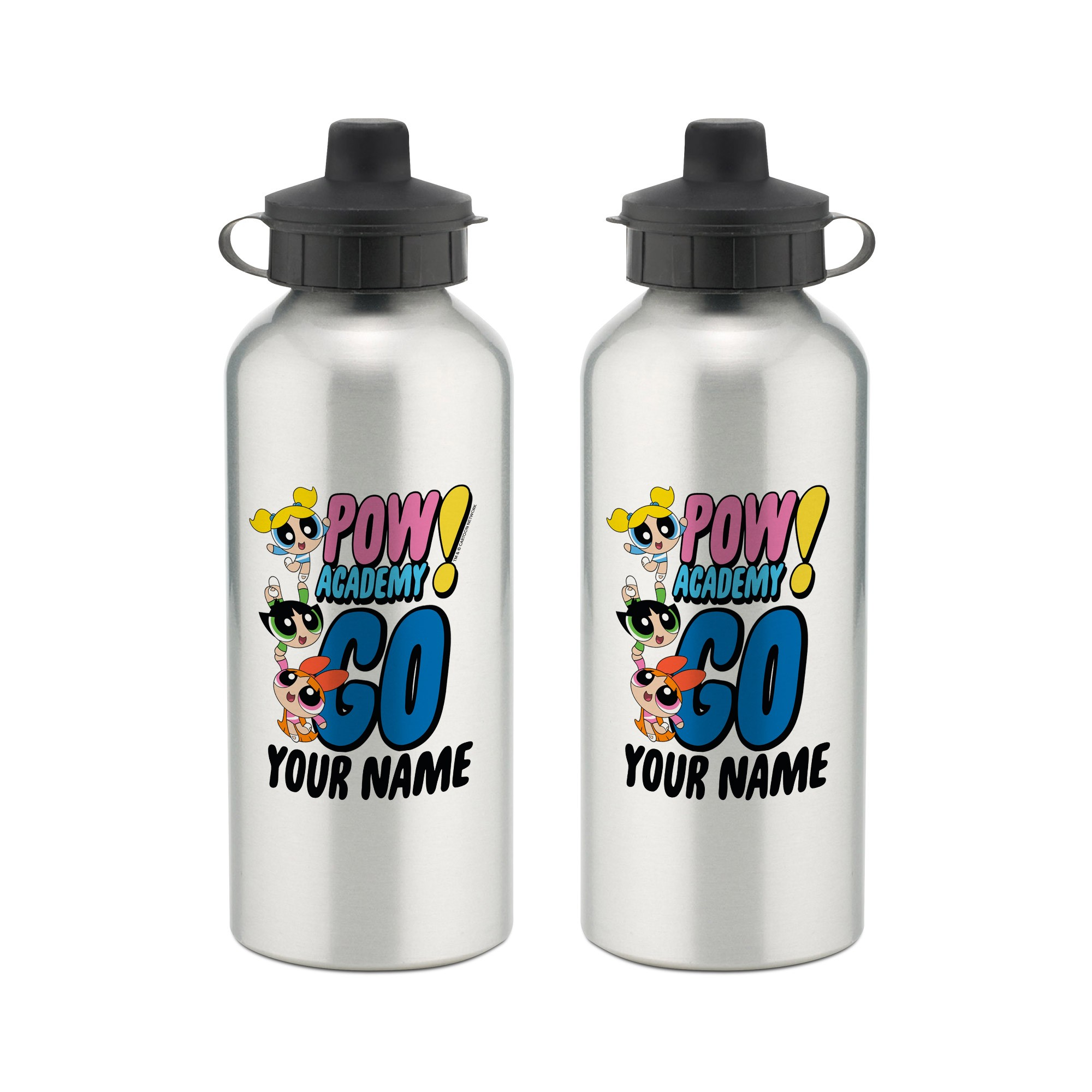 Powerpuff Girls Pow Academy Go Aluminium Water Bottle