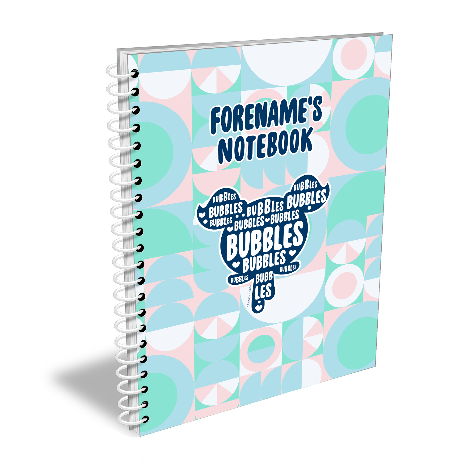 Powerpuff Girls Silhouette Bubbles Notebook A4