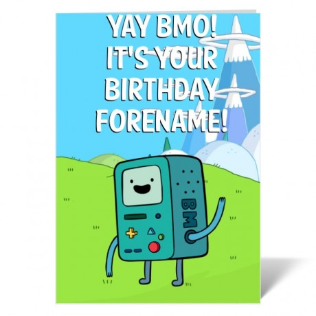 Adventure Time BMO Birthday Card