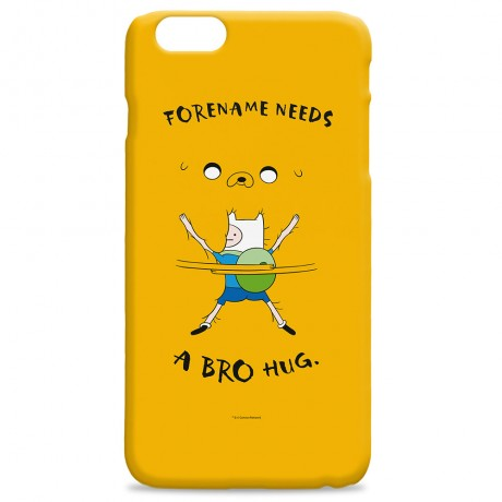 Adventure Time Bro Hug iPhone Case
