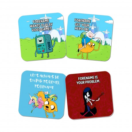 Adventure Time Finn and Jake Coasters 4 Pack