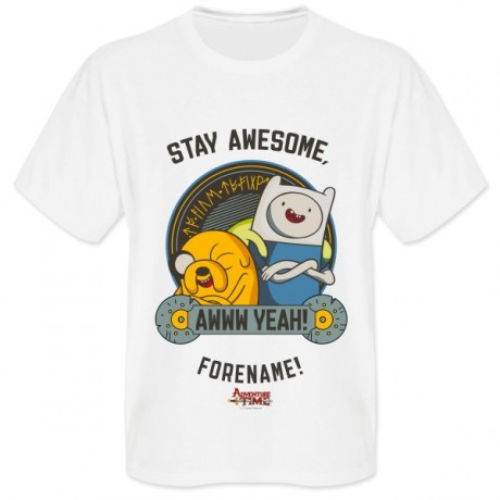 Adventure Time Stay Awesome Mens T-shirt