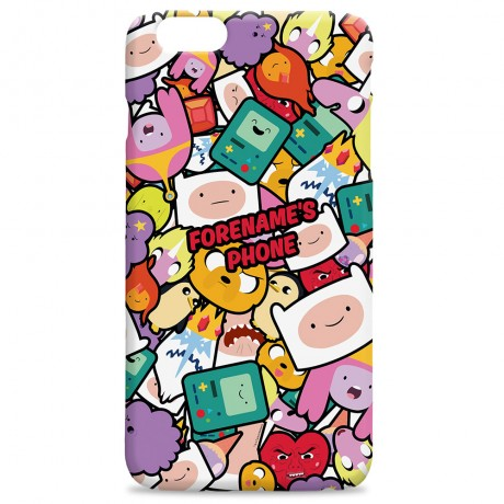 Adventure Time Sticker iPhone Case