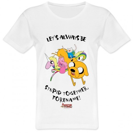 Adventure Time Stupid Forever Womens T-shirt