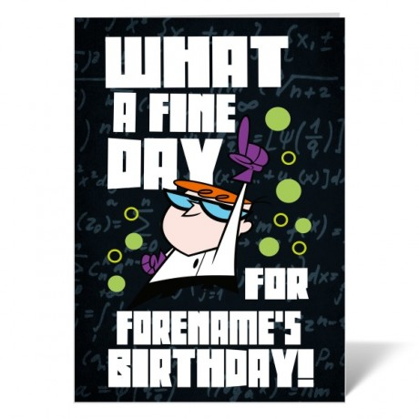 Dexter's Lab Fine Day Birthday Card