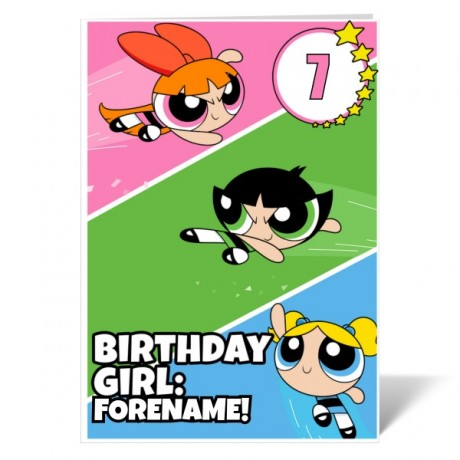 Powerpuff Girls Birthday Birthday Girl Card