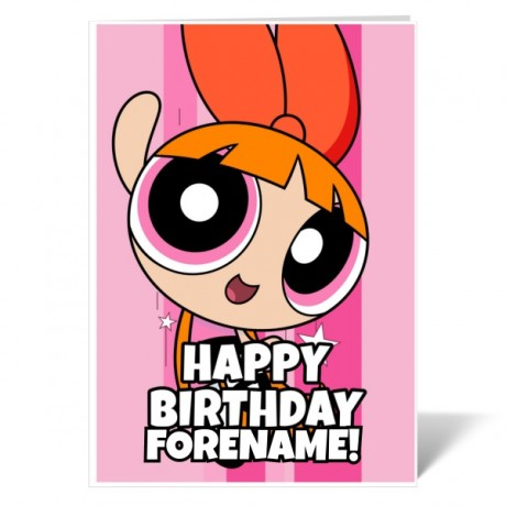 Powerpuff Girls Blossom Comic Birthday Card