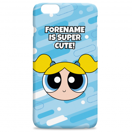 Powerpuff Girls Bubbles Pattern iPhone Case