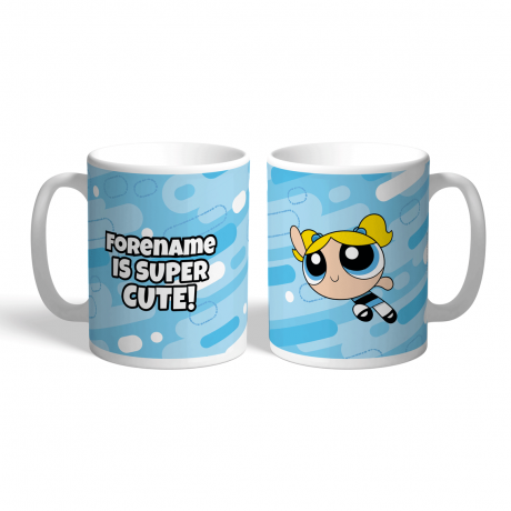 Powerpuff Girls Bubbles Pattern Mug