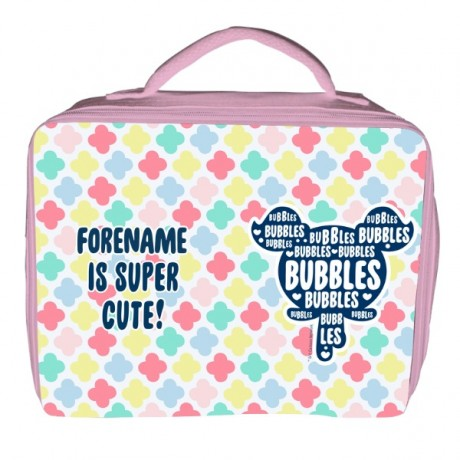 Powerpuff Girls Bubbles Silhouette Insulated Lunch Bag - Pink