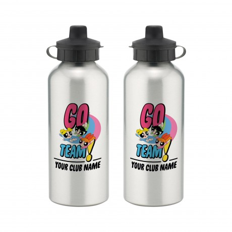 Powerpuff Girls Go Team Aluminium Water Bottle