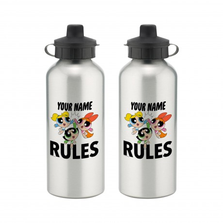 Powerpuff Girls Name Rules Aluminium Water Bottle