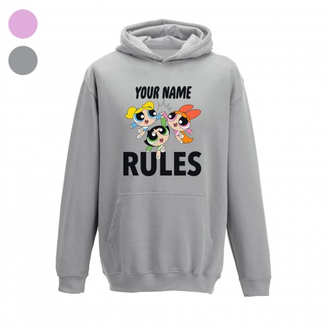 Powerpuff Girls Name Rules Kids Hoodie