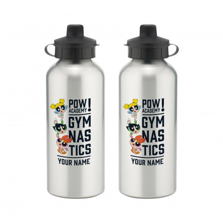 Powerpuff Girls Pow Academy Gymnastics Aluminium Water Bottle