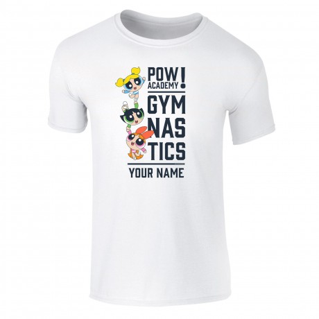 Powerpuff Girls Pow Academy Gymnastics Kids T-Shirt