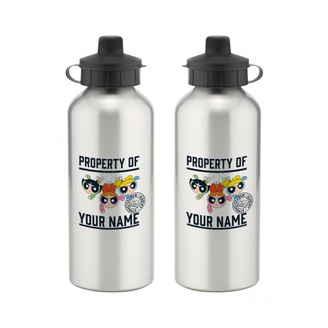 Powerpuff Girls Property of Name Aluminium Water Bottle