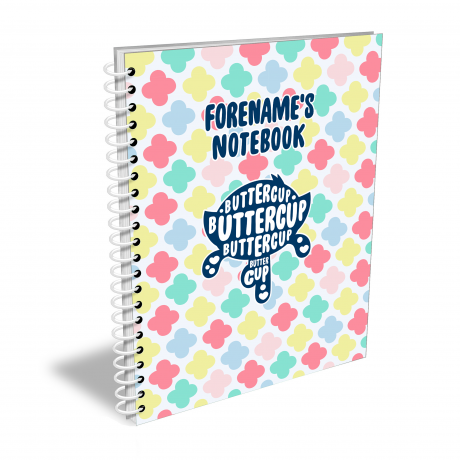 Powerpuff Girls Silhouette Buttercup Notebook A4
